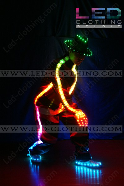 Step Up LED dance suit with light-up