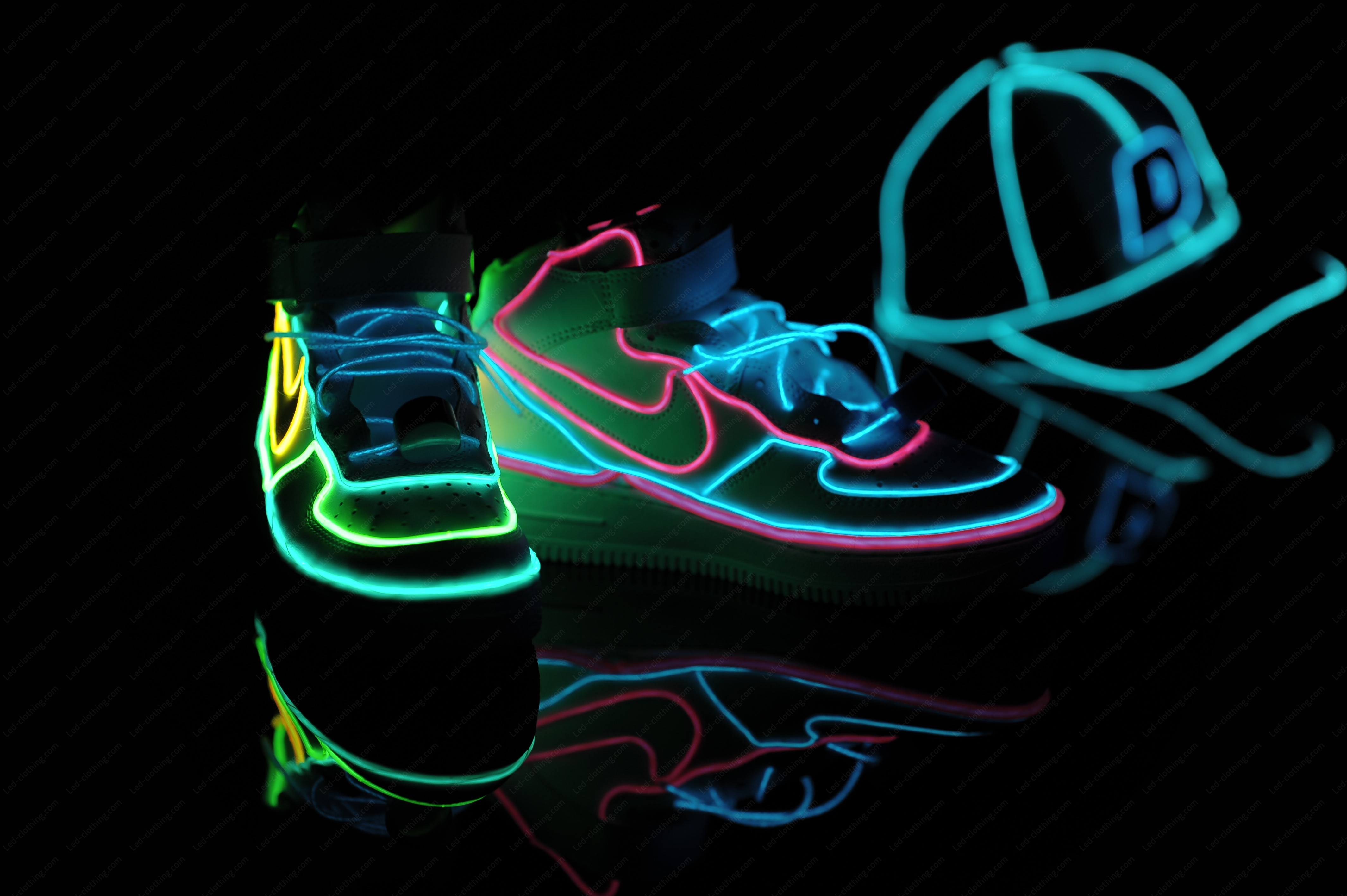 El Wire Light Up Sneakers Led Clothing Studio Inc