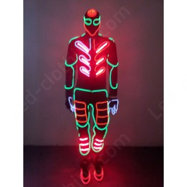 Neon Tron LED & Fiber optic dance costume