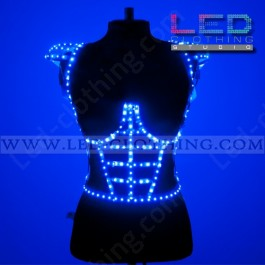 3D decorative LED corset with shoulders