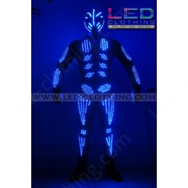 Skeleton LED Costume With Mask