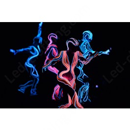 Alien Fiber optics LED costume