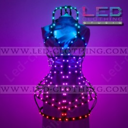 Smart Pixel LED corset dress with wifi remote control
