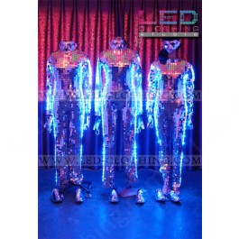 Mirrorman LED costume