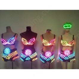 Women LED pants with LED bra