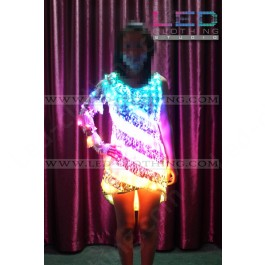 Smart LED dress with wireless control