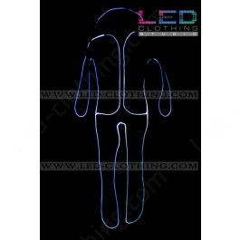 Ghost fiber optic costume