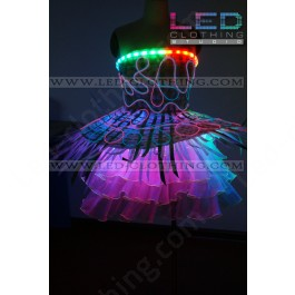 Feather digital LED dress