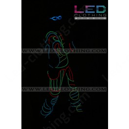 Birdman fiber optic LED costume