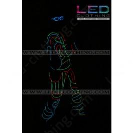 Birdman fiber optic LED costume