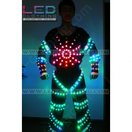 Superman LED dance costume