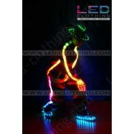 Step Up LED dance suit with light-up hat, shoes and gloves