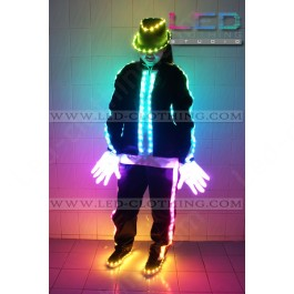 Step Up LED dance suit (version 2) with light-up hat, shoes and gloves