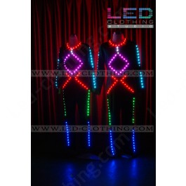 Futuristic Tron Stage LED costume