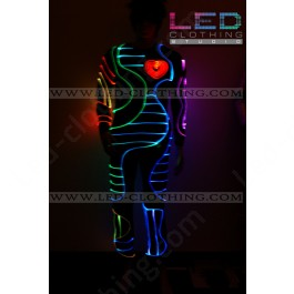 Heart-beat LED dance costume (version 3)