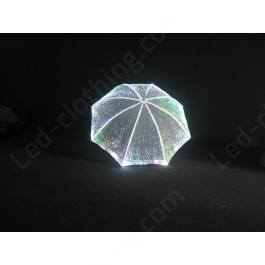 Fiber optic RGB color umbrella