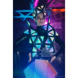 Trinity Mirror Pixel LED Dress