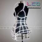 3D Decorative multi colored corset LED Dress