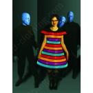 EL Wire Rainbow LED Dress