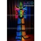 Stiltwalker LED robot \ Kryoman LED costume (model 2016 year)