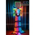 Stiltwalker Cube LED robot costume
