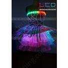 Feather digital LED dress