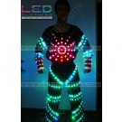 Superman LED dance costume