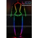 Futuristic stage digital LED costume