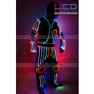 Heart-beat LED dance costume
