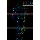 Armor fiber optic LED costumes with helmet and shoes
