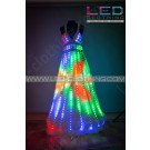 Digital Pixel Aurora LED dress with wireless control