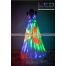 Digital Pixel Aurora LED dress with wireless control